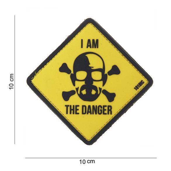 I am the danger tépőzáras PVC felvarró