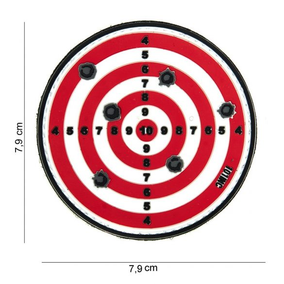 Target tépőzáras PVC felvarró - piros