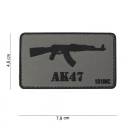 AK 47 tépőzáras PVC felvarró