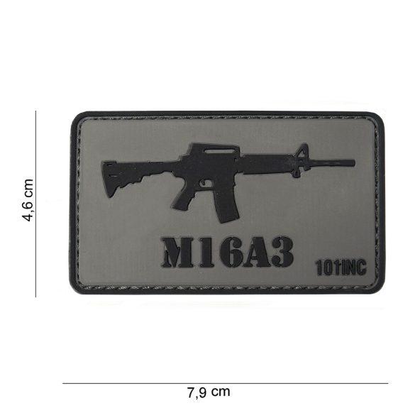M16A3 tépőzáras PVC felvarró