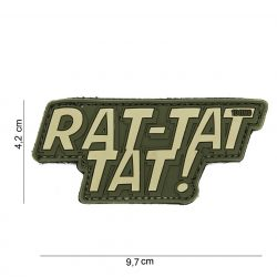 Rat-tat tat tépőzáras PVC felvarró