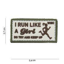 Úgy futok,mint egy lány tépőzáras PVC felvarró