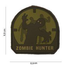 Zombi vadász tépőzáras PVC felvarró