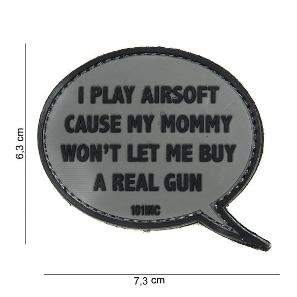 I PLAY AIRSOFT... PVC patch
