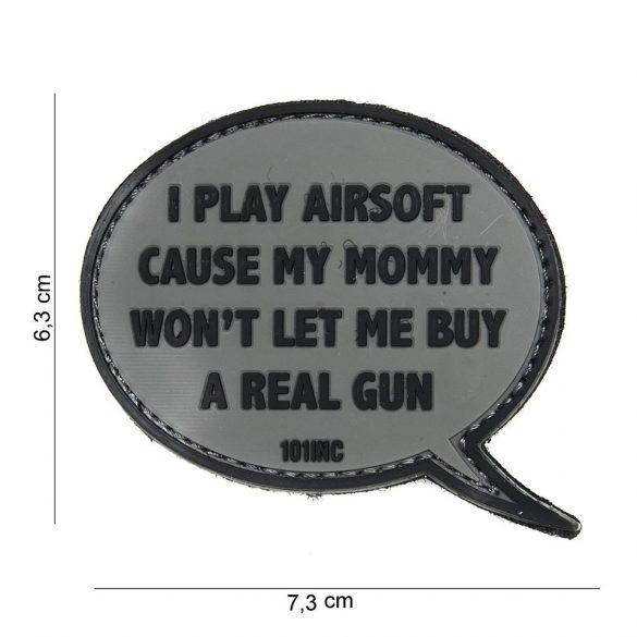 I PLAY AIRSOFT... tépőzáras PVC felvarró