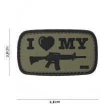 ILMS M44 tépőzáras PVC felvarró