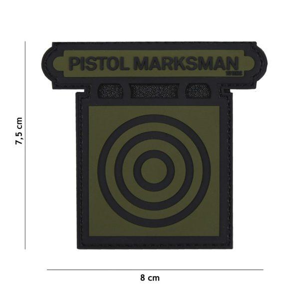 Pistol Marksman PVC patch - green