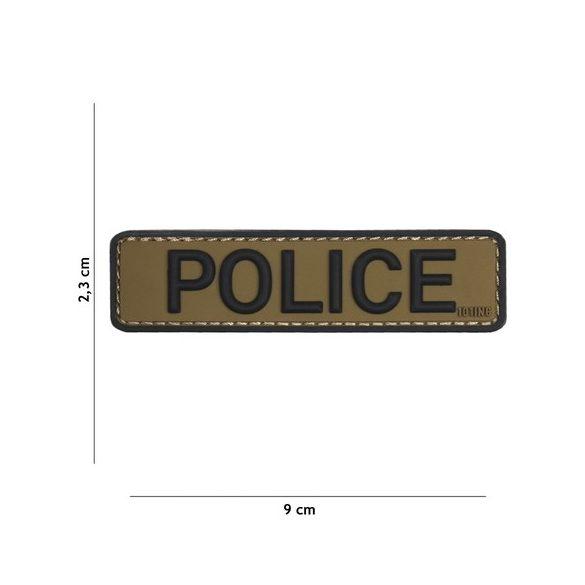 Police tépőzáras PVC felvarró