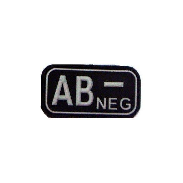 Tépőzáras PVC vércsoport felvarró - fekete/fehér AB-