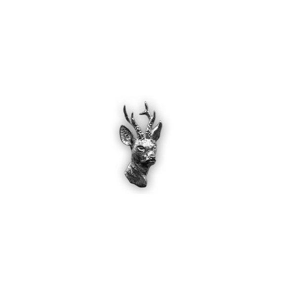 Hunter pin badge - roebuck head