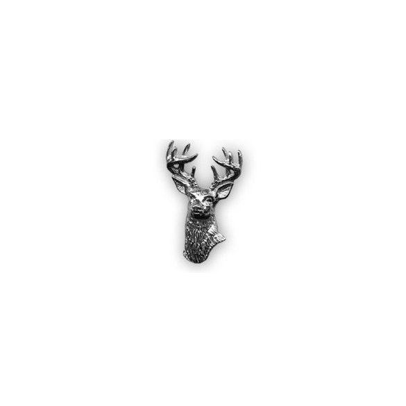 Hunter pin badge - red deer head