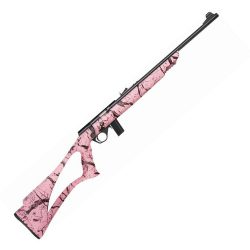 """Mossberg 802 18"""" synthetic pink .22LR"""