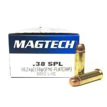 Magtech .38 Special 158gr FMJ flat