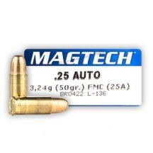 Magtech 6,35mm Browning 50gr FMJ