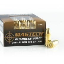 Magtech 9mm Luger Guardian Gold 124gr JHP