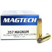 Magtech .357 Magnum 158gr SJSP flat w/o nickel