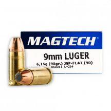 Magtech 9mm Luger 95gr JSP Flat