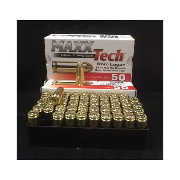 MAXXTECH 9mm Luger 124gr FMJ