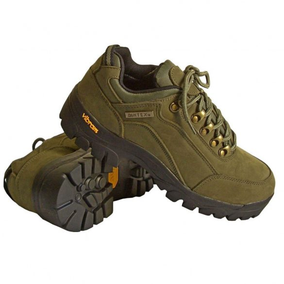 Nubuk bőr cipő Vibram talppal - zöld