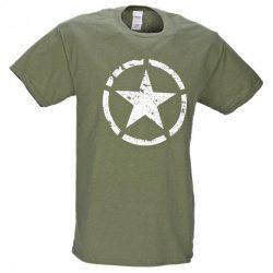 M-Tramp Army csillag póló - military-zöld