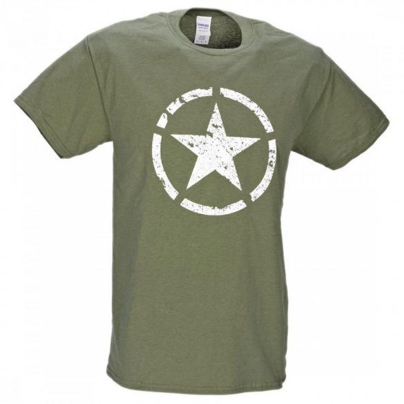 M-Tramp Army Star T-Shirt - military-green