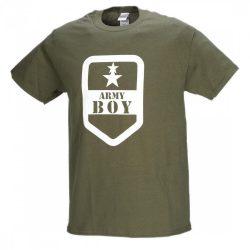 M-Tramp Army boy póló - military-zöld