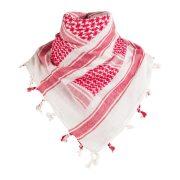 Shemagh arab kendő - fehér/piros