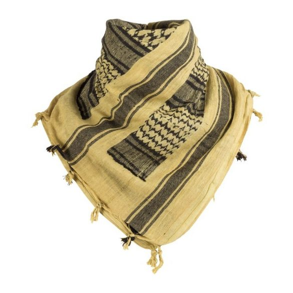 Shemagh arab kendő - bézs/fekete