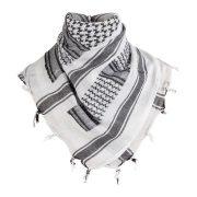 Shemagh arab kendő - fehér/fekete