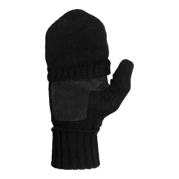 M-Tramp bélelt bőrtenyeres lövészkesztyű kesztyű - fekete