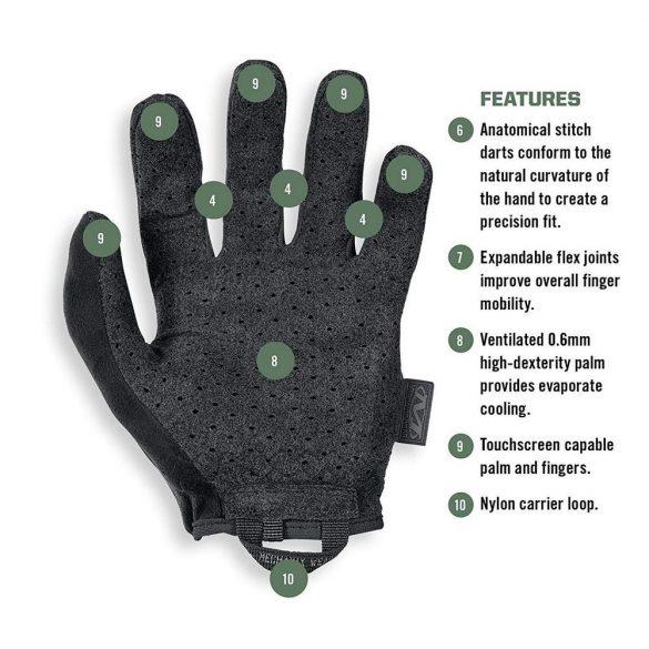 Mechanix Speciality Vent kesztyű - fekete